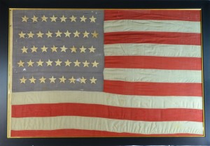 42 STAR FLAG ANTIQUE IMAGE