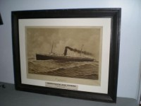 LITHOGRAPH OF STEAMSHIP IMAGE