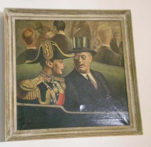 LISTED ARTIST PAINTING OF FDR IMAGE