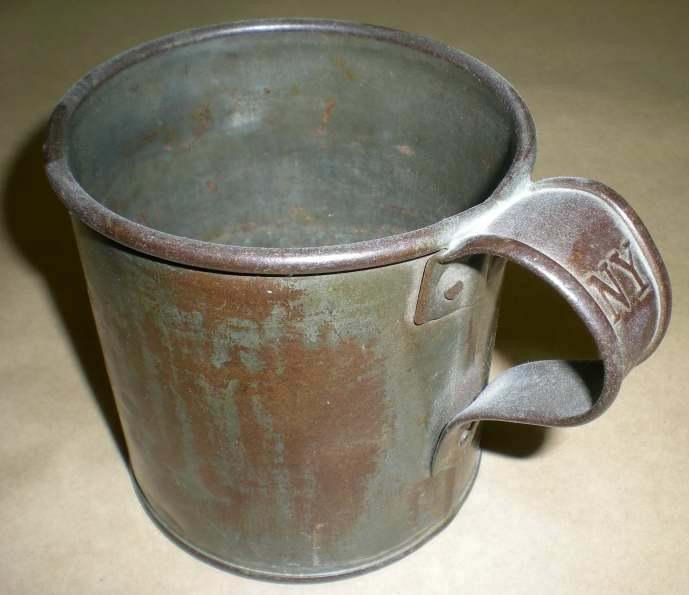 Marked Civil War Tin Cup Historical Americana