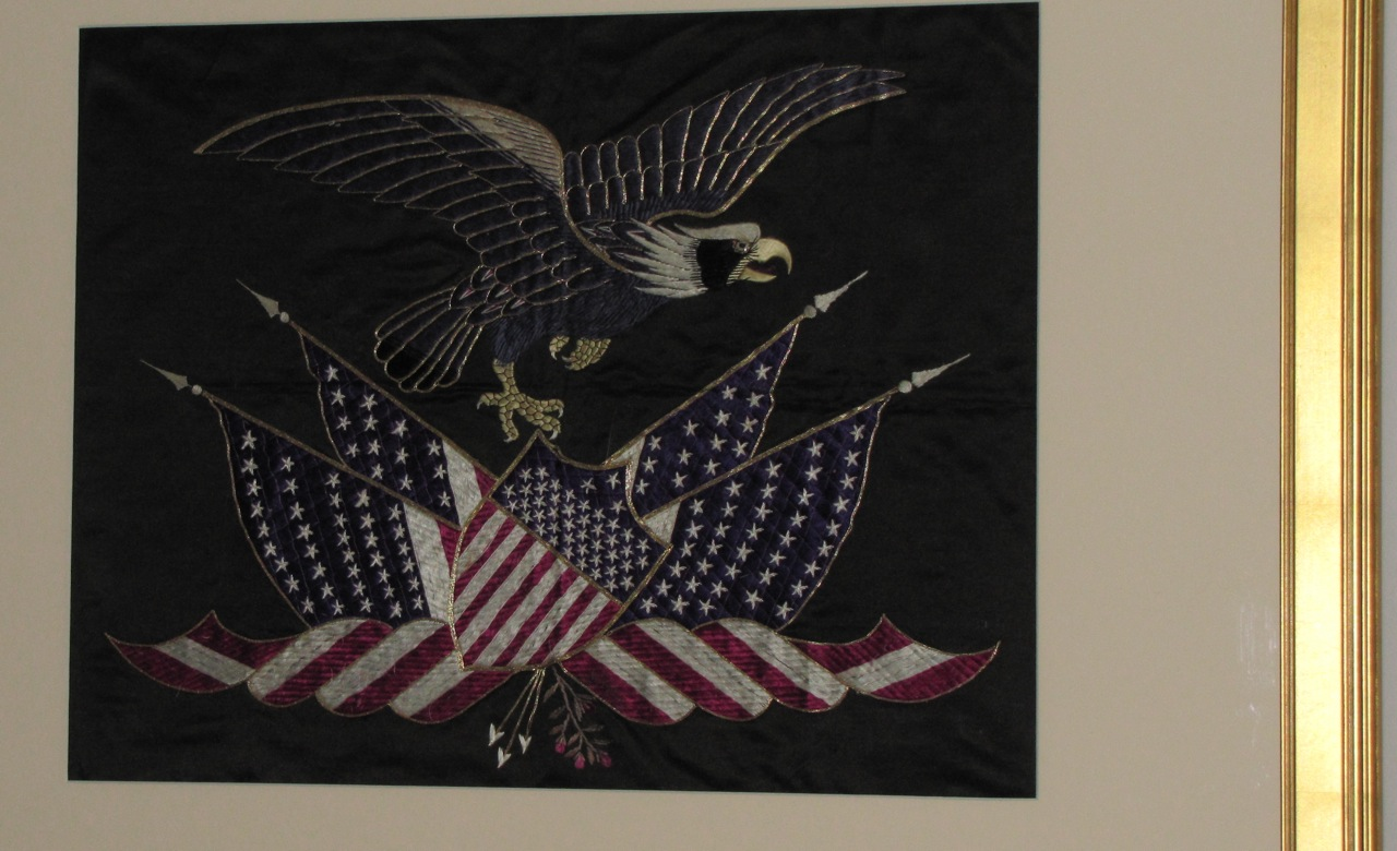 Antique Patriotic Silk Embroidery