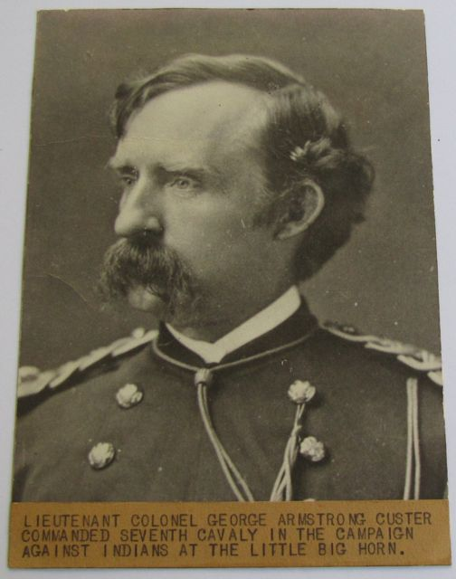 Cabinet Card Photograph Of Lt Col George Armstrong Custer