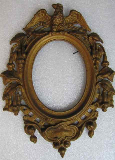 Antique Cast Iron Patriotic Photo Frame