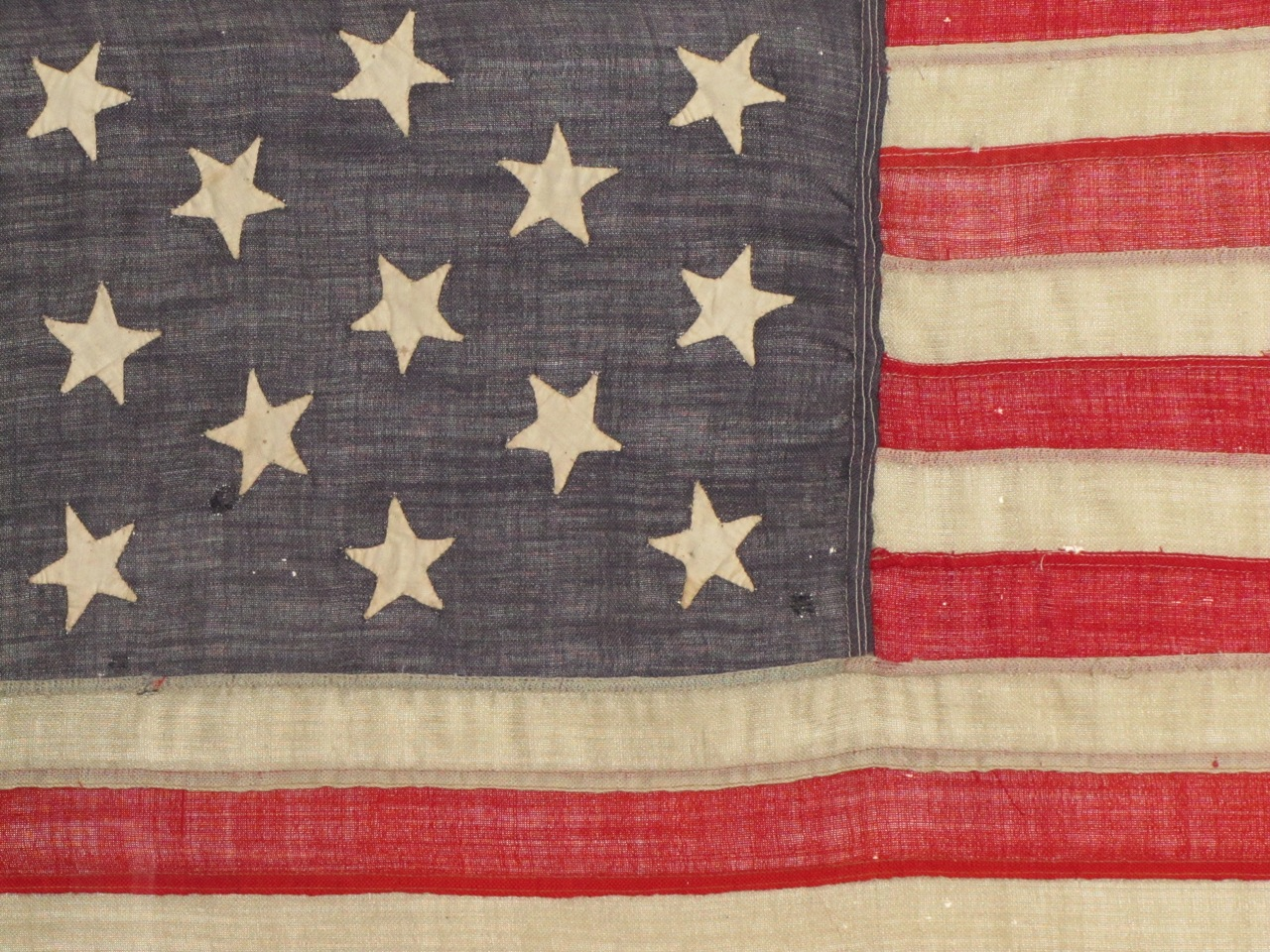 679cb1de342 ... Rare 13 Star Flag Civil War Era Hand Sewn Stars   SKU 9375   SOLD. 🔍.  ANTIQUE FLAG IMAGE