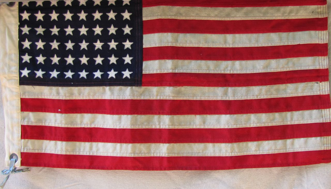 Rare Small Us Navy Ensign Wwii 48 Star Flag Sku 9684