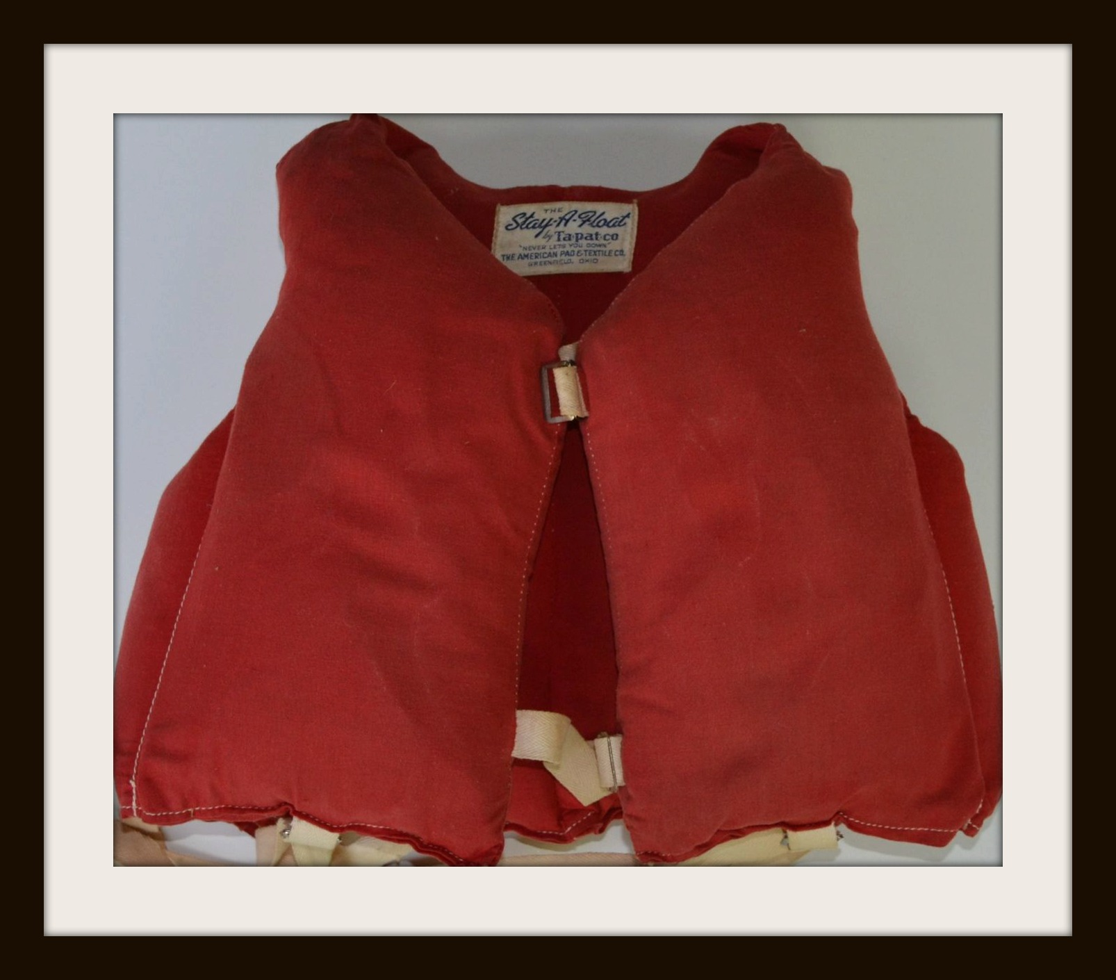 Vintage Childs Red Life Vest Preserver