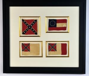 ANTIQUE CONFEDERATE FLAGS IMAGE