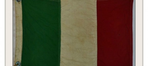VINTAGE NAUTICAL BOAT FLAG Italy
