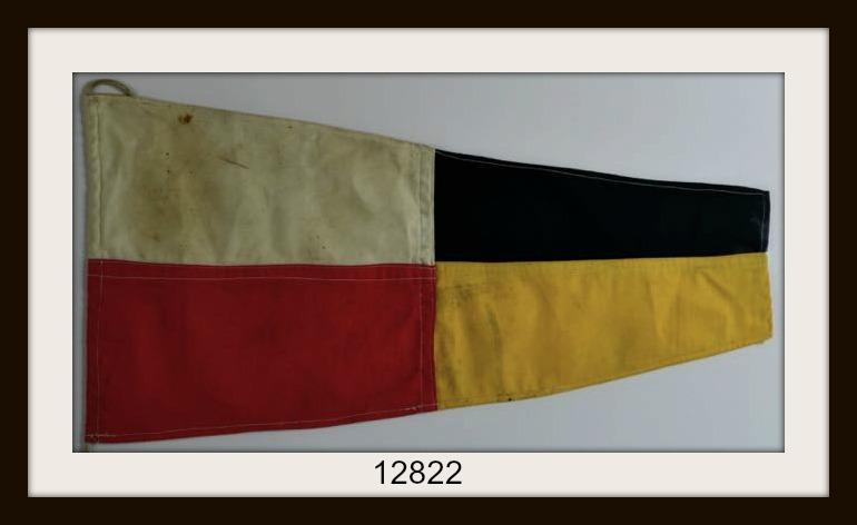 """ANTIQUE NAUTICAL SIGNAL FLAG """"#9"""" IMAGE"""