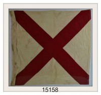 ANTIQUE NAUTICAL SIGNAL FLAG PIC
