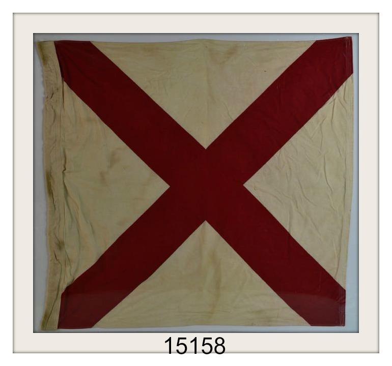 ANTIQUE NAUTICAL SIGNAL FLAG PIC