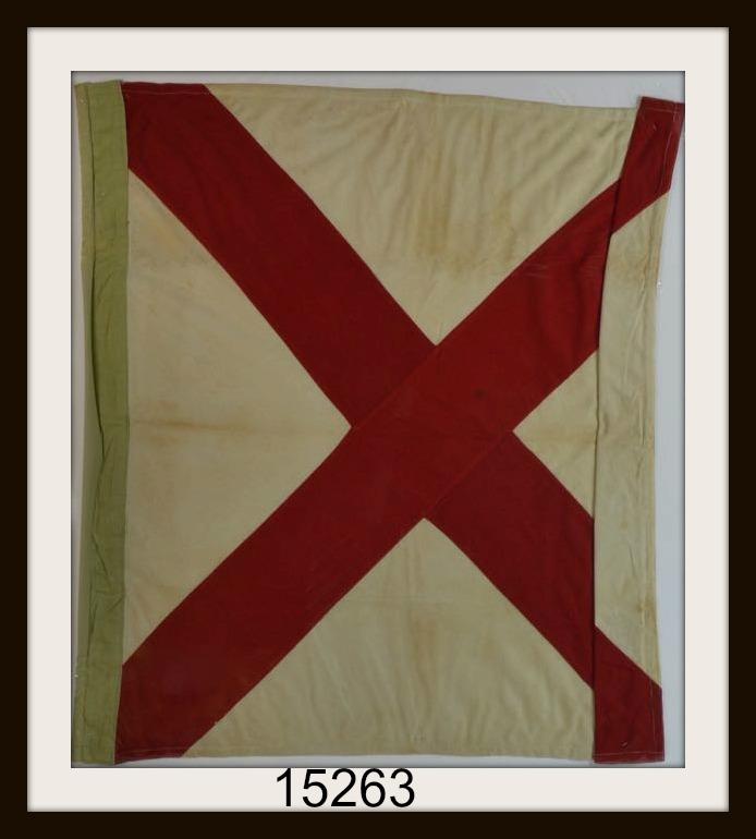 "VINTAGE NAUTICAL SIGNAL FLAG ""V"" IMAGE"