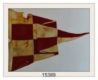 "ANTIQUE NAUTICAL SIGNAL FLAG ""EMERGENCY"" IMAGE"