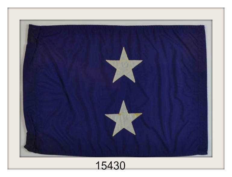 OLD 2 STAR ADMIRALS FLAG IMAGE
