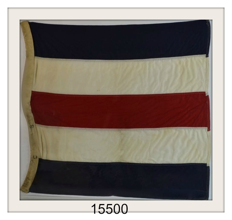 "VINTAGE NAUTICAL SIGNAL FLAG ""C"" IMAGE"