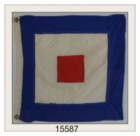 "VINTAGE NAUTICAL SIGNAL FLAG ""W"" IMAGE"