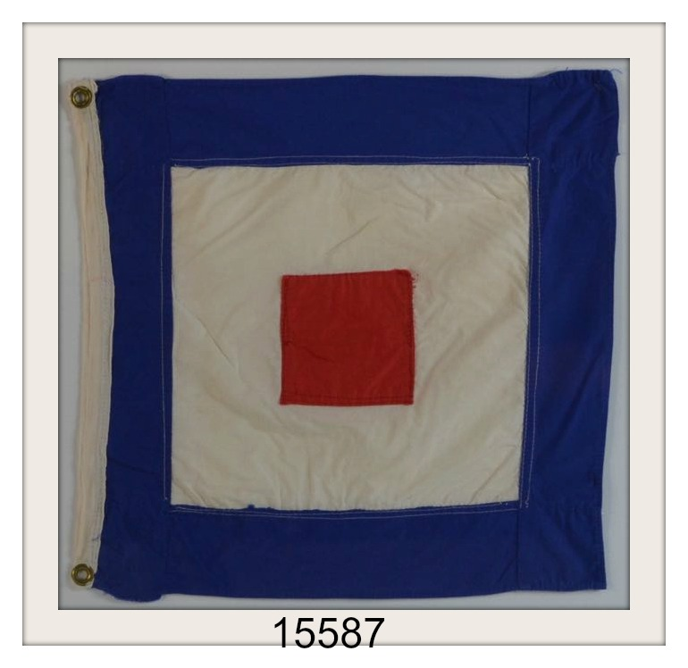 "VINTAGE NAUTICAL SIGNAL FLAG ""W"" IMAGE"