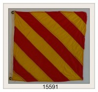 "OLD NAUTICAL SIGNAL FLAG ""Y"" IMAGE"