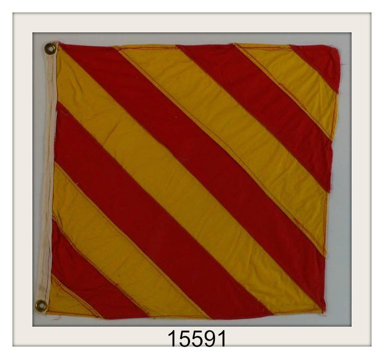 "OLD NAUTICAL SIGNAL FLAG ""Y"" IMAGE"