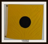 "OLD NAUTICAL SIGNAL FLAG ""I"" IMAGE"