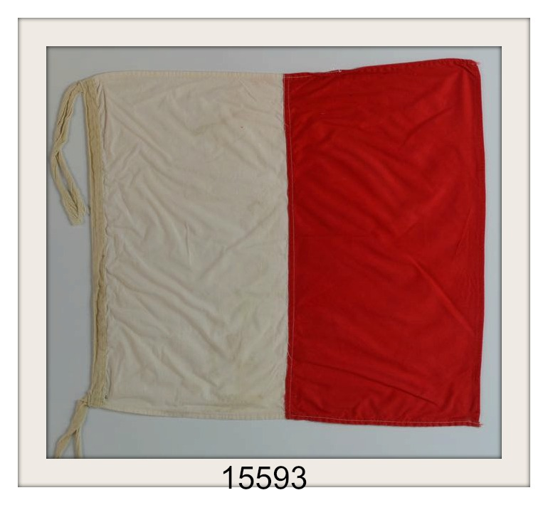 "VINTAGE NAUTICAL SIGNAL FLAG ""H"" IMAGE"