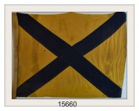 "VINTAGE NAUTICAL SIGNAL FLAG ""5"" IMAGE"