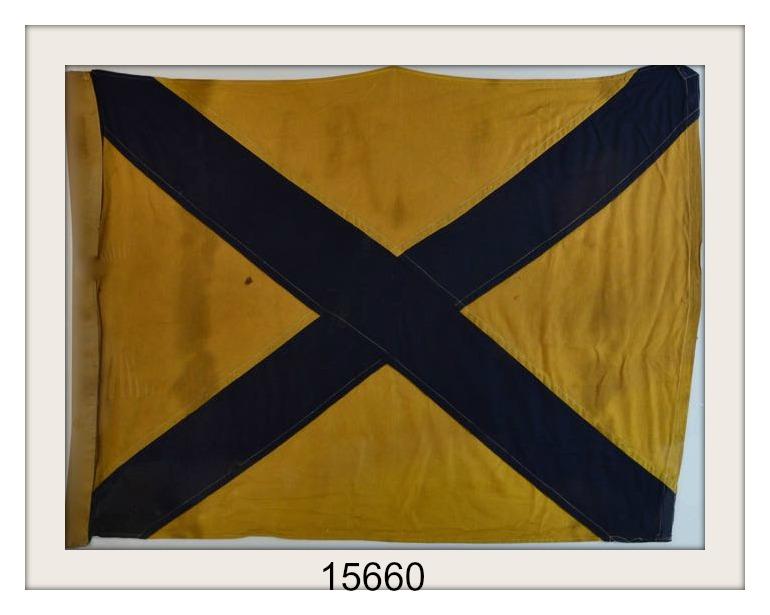"VINTAGE NAUTICAL SIGNAL FLAG ""5"" IMAGE"