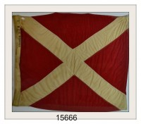 "ANTIQUE NAUTICAL SIGNAL FLAG ""#4"" IMAGE"