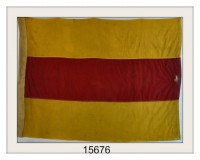 "VINTAGE NAUTICAL SIGNAL FLAG ""2"" IMAGE"