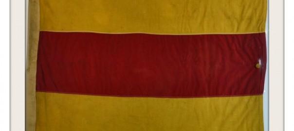 "VINTAGE NAUTICAL SIGNAL FLAG ""2"" IMAGE"