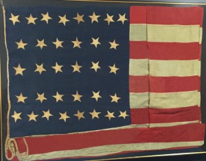 Antique 34 Star Civil War Flag IMAGE