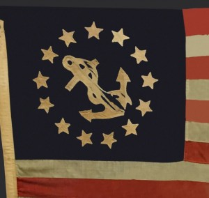 Antique 13 Star Boat Flag IMAGE