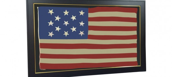ANTIQUE 13 STAR FLAG IMAGE