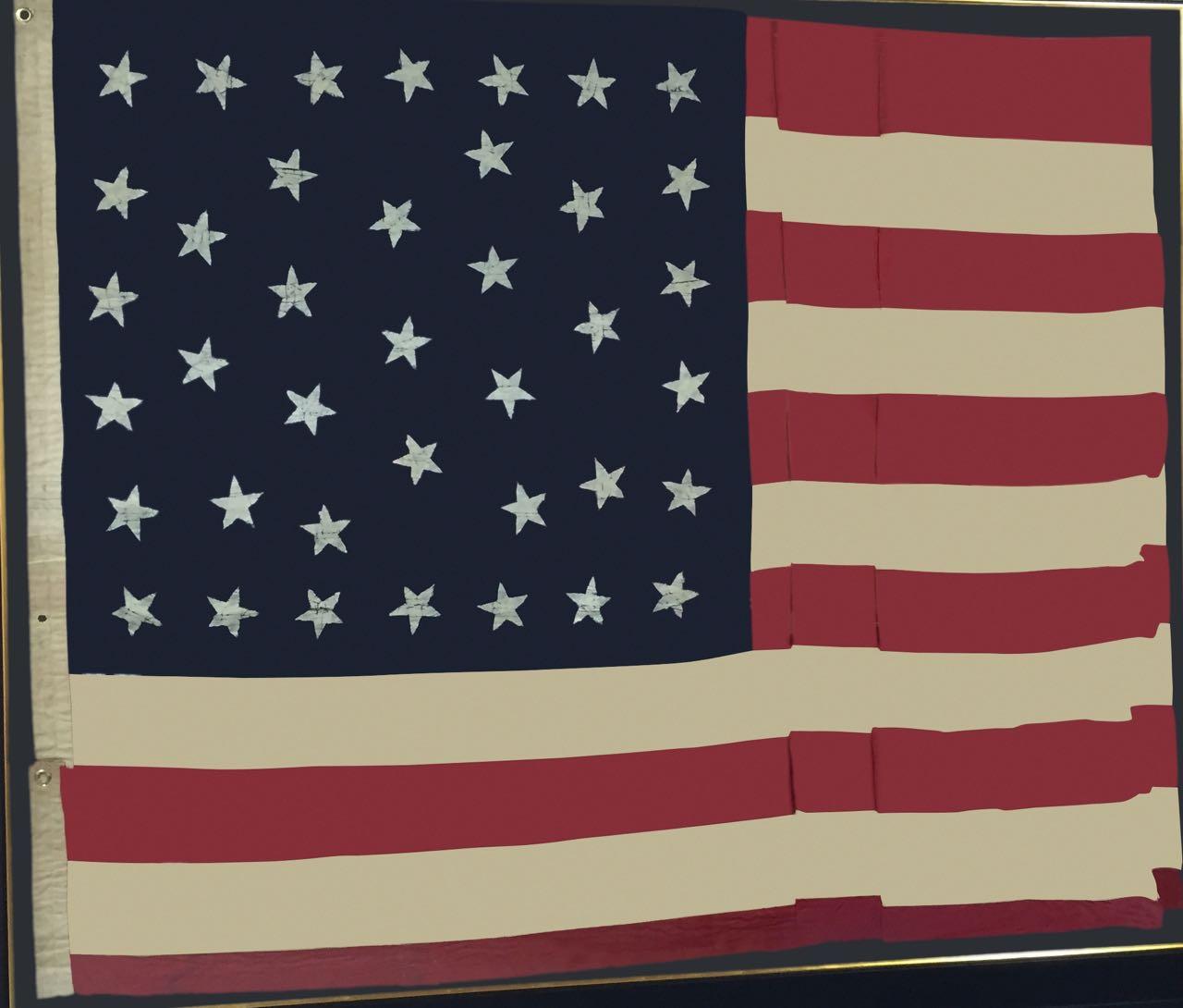 ANTIQUE 39 STAR FLAG IMAGE