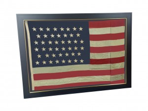 ANTIQUE 45 STAR FLAG IMAGE