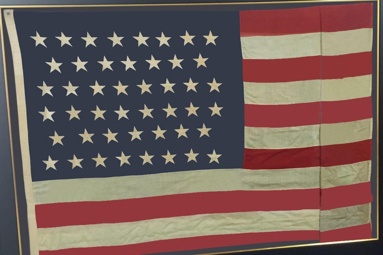 LARGE 45 STAR FRAMED FLAG #16301