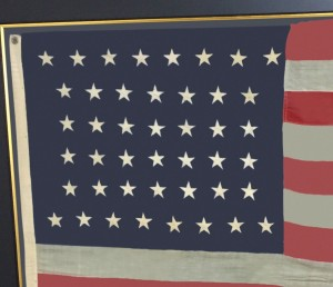 ANTIQUE 44 STAR FLAG IMAGE