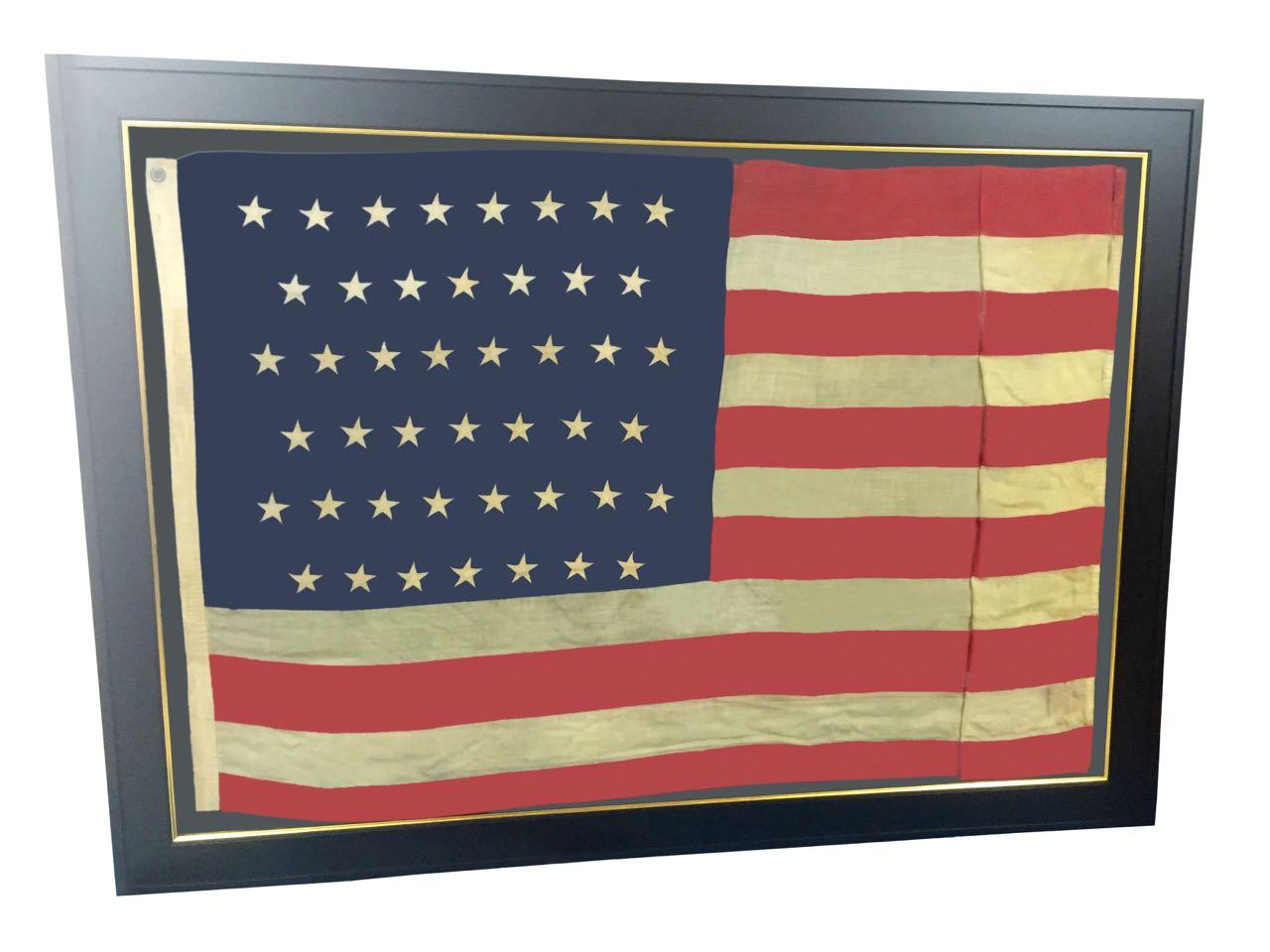 LARGE 45 STAR FRAMED FLAG