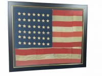 AUTHENTIC ANTIQUE 42 STAR FLAG IMAGE
