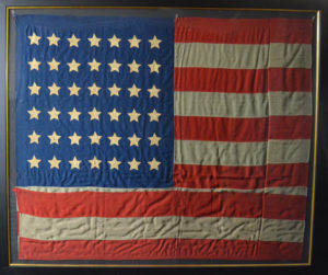 Authentic antique 42 star flag
