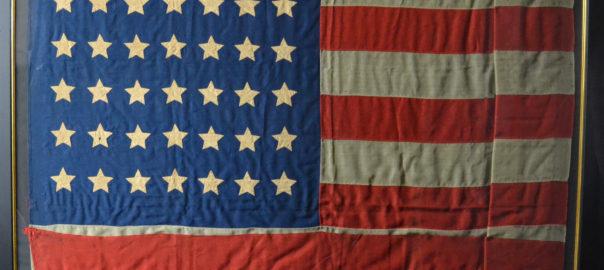 Authentic antique 42 star flag