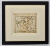 Antique framed map of Asia