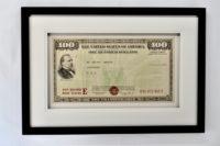 Large Vintage US Bond Bank Poster