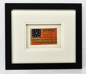 Antique 13 Star Advertising Card with Flag