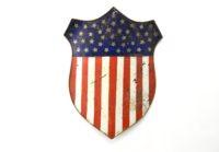 Rare Antique Federal Shield, Hand Made