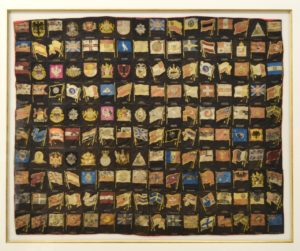 Antique Collection of Tobacco Silks International Flags