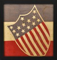 Antique Federal Shield 13 Star Flag