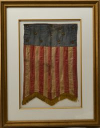 13 STAR HAND SEWN CIVIL WAR PATRIOTIC BANNER