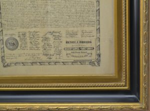 ANTIQUE DECLARATION OF INDEPENDENCE DATED 1874