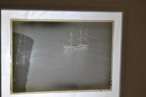 ANTIQUE GLASS NEGATIVE OF USS CONSTITUTION